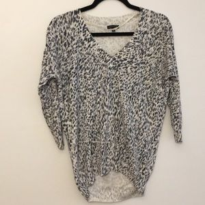 Dynamite Animal Print V- Neck Sweater